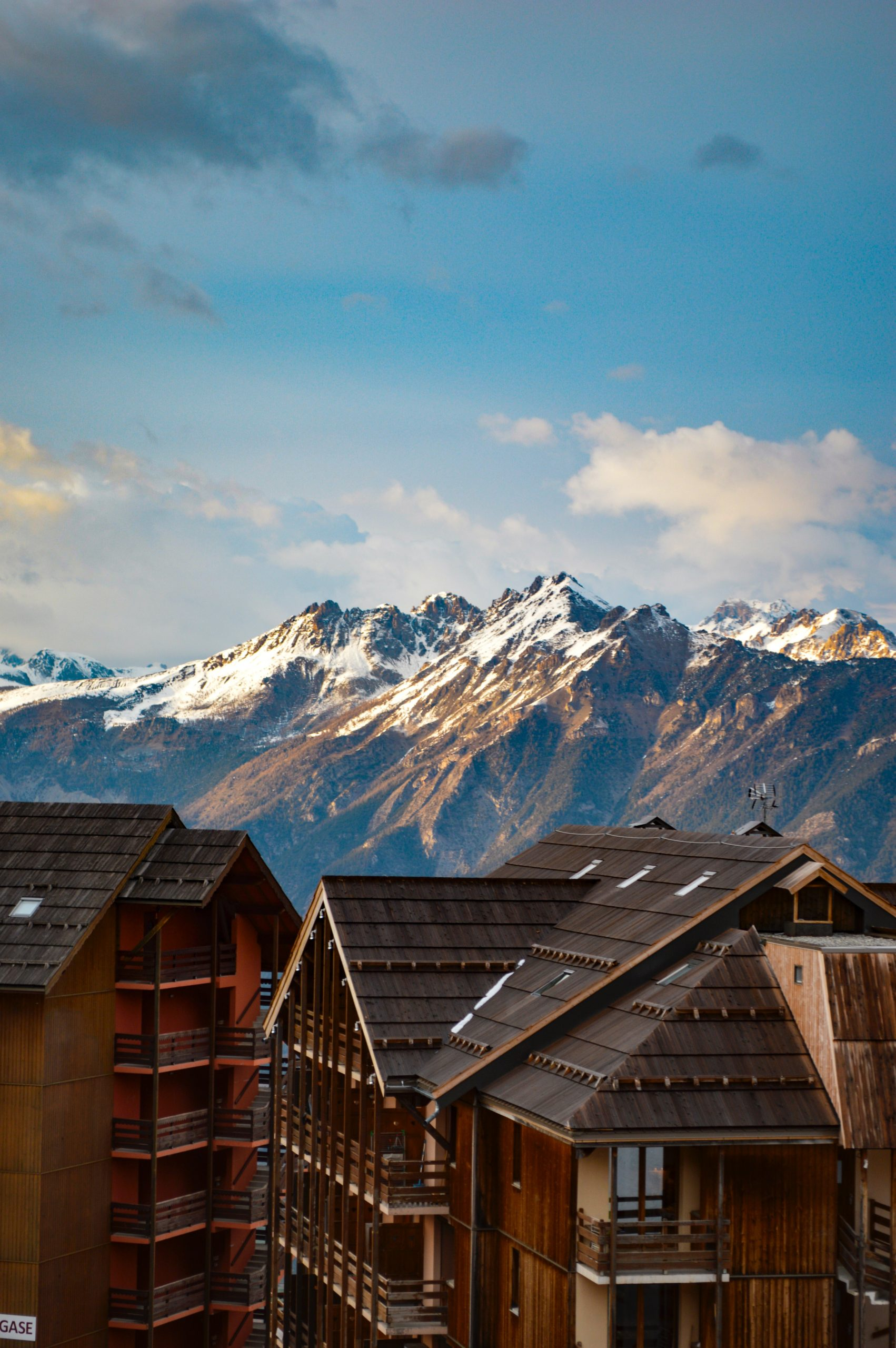 Toits de residences de montagne