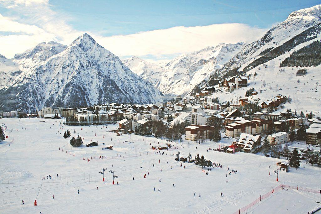 tation de ski en hiver