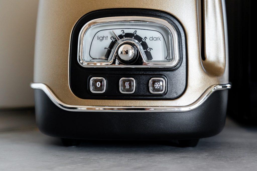 boutons d'un appareil d'électroménager